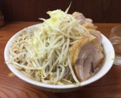 ブタ入りラーメン(豚五枚)830円 ラーメン二郎亀戸店20回目