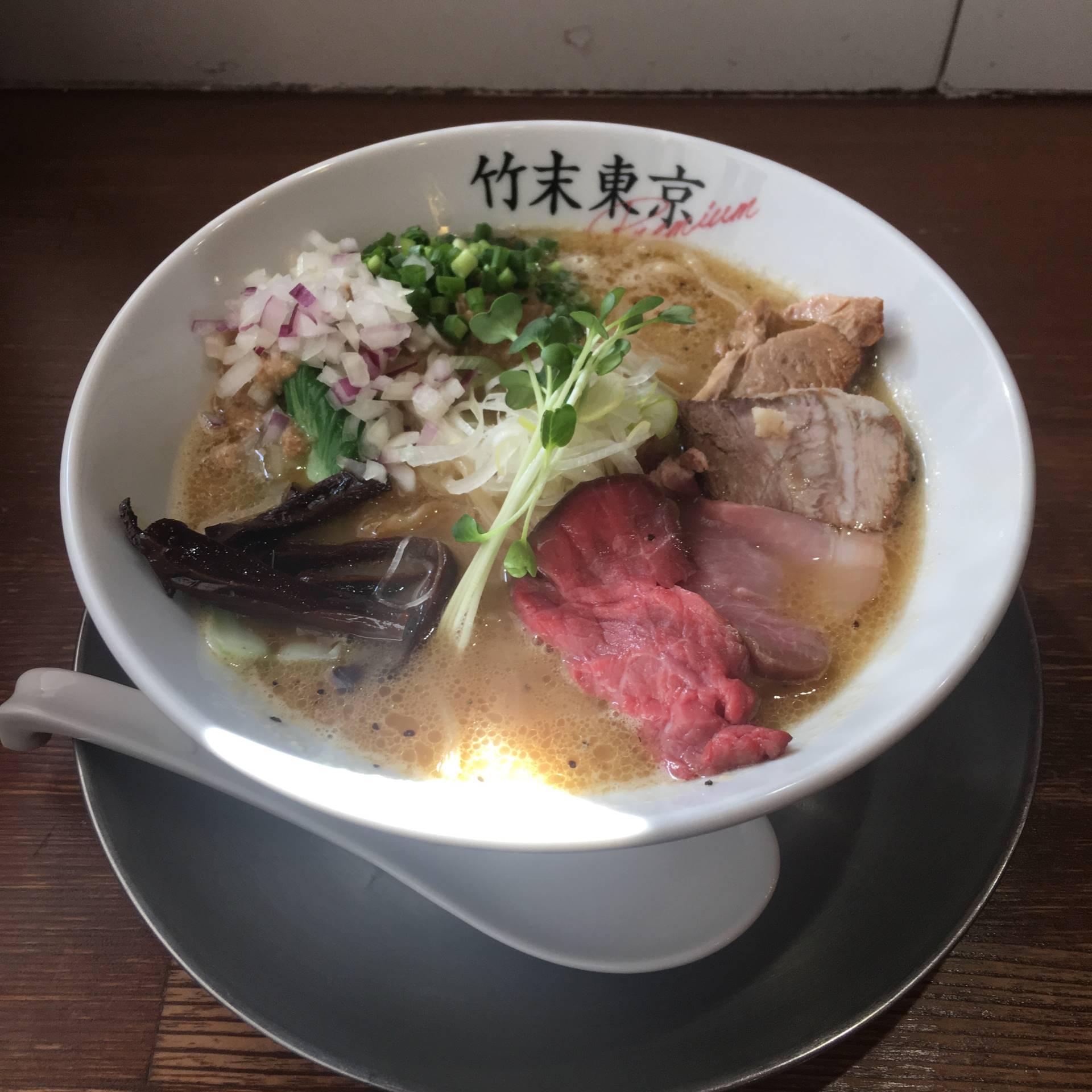 竹末東京プレミアムの鶏ホタテそば900円