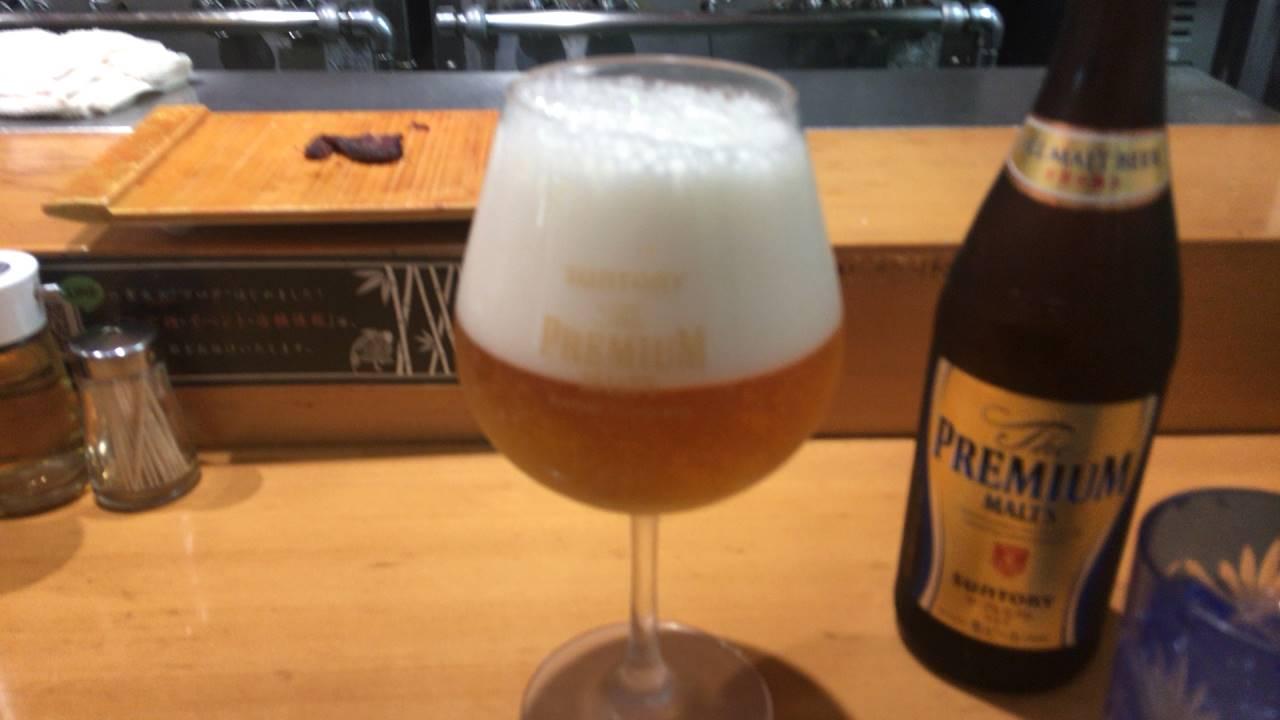 ビールはプレミアムモルツ瓶600円