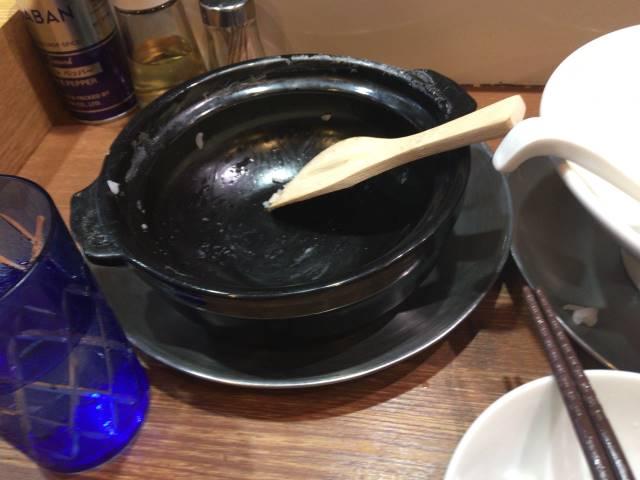 食べ終えた土鍋