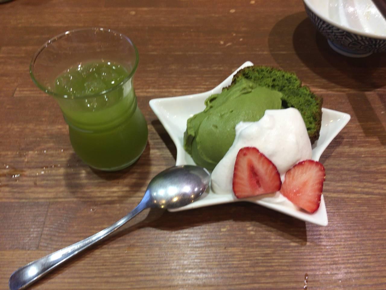 竹末東京プレミアム4周年記念のデザート