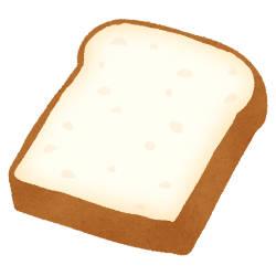 カットされた食パンの絵