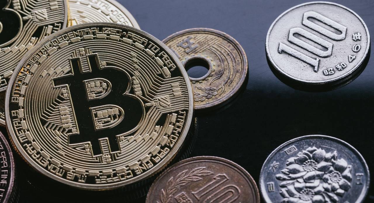 bitcoinと日本の硬貨