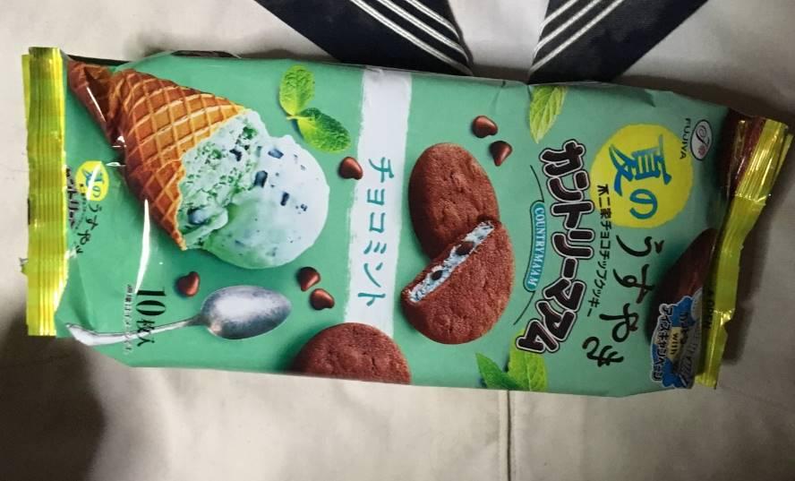 製品のパッケージ カントリーマアム  チョコミント 不二家チョコチップクッキー