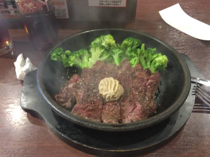いきなり!ステーキ吾妻橋店にて2018年07月03日ワイルドステーキ300g食べてみた