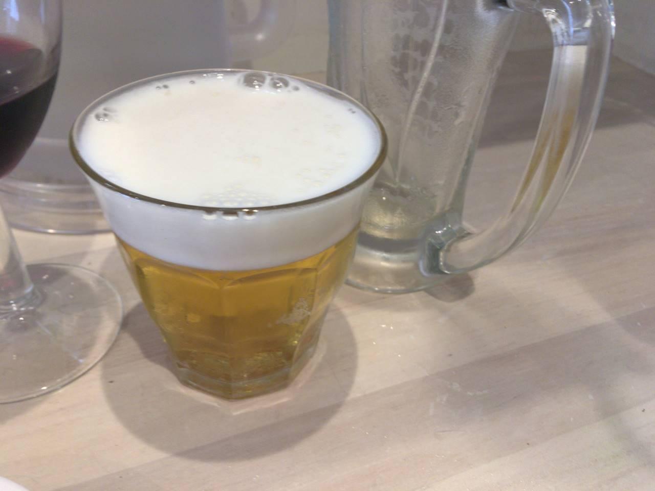ビール2杯目 グラス