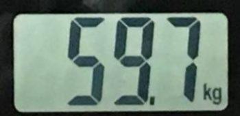 2018年7月17日の体重
