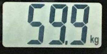 2018年7月18日の体重