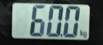 2018年7月20の体重