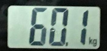 2018年7月21日の体重