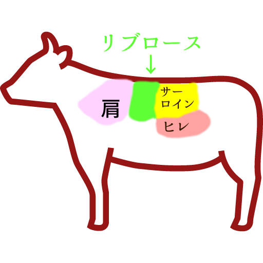 リブロースの図