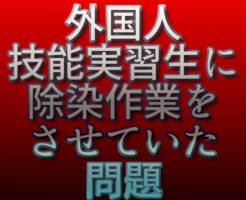文字「外国人技能実習生に除染作業をさせていた問題」