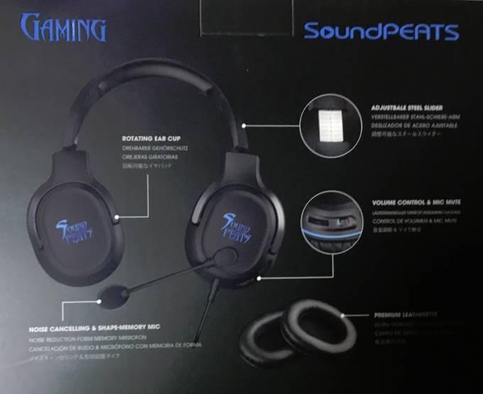 SoundPEATS(サウンドピーツ) ゲーミングヘッドセット
