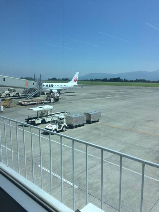 鹿児島空港到着