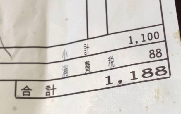 『乱切りカットステーキ200g』(チェンジインゲン)と 赤ワインの会計価格