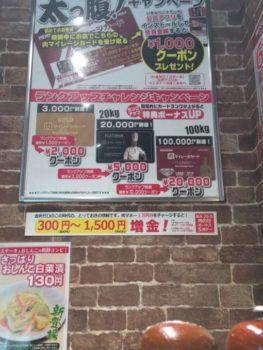 掲載されている肉マイレージカードのキャンペーン