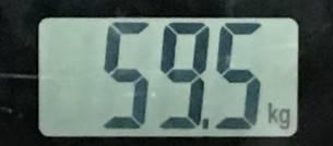 2018年8月10日の体重