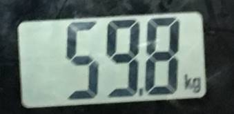 2018年8月13日の体重