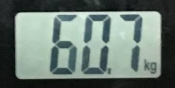 2018年8月14日の体重