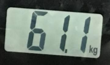 2018年8月15日の体重