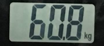 2018年8月16日の体重