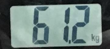 2018年8月18日の体重