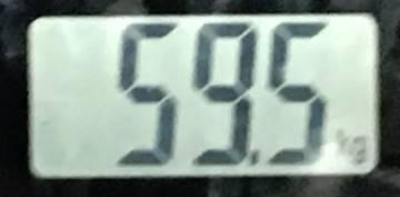 2018年8月21日の体重