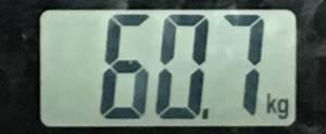2018年8月25日の体重