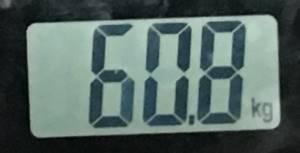 2018年8月27日の体重