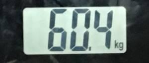 2018年9月12日の体重