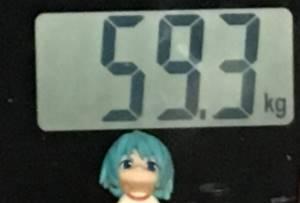 2018年9月19日の体重