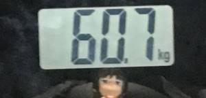 2018年9月23日の体重