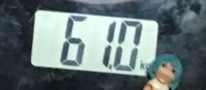 2018年9月29日の体重