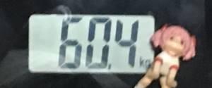 2018年9月30日の体重
