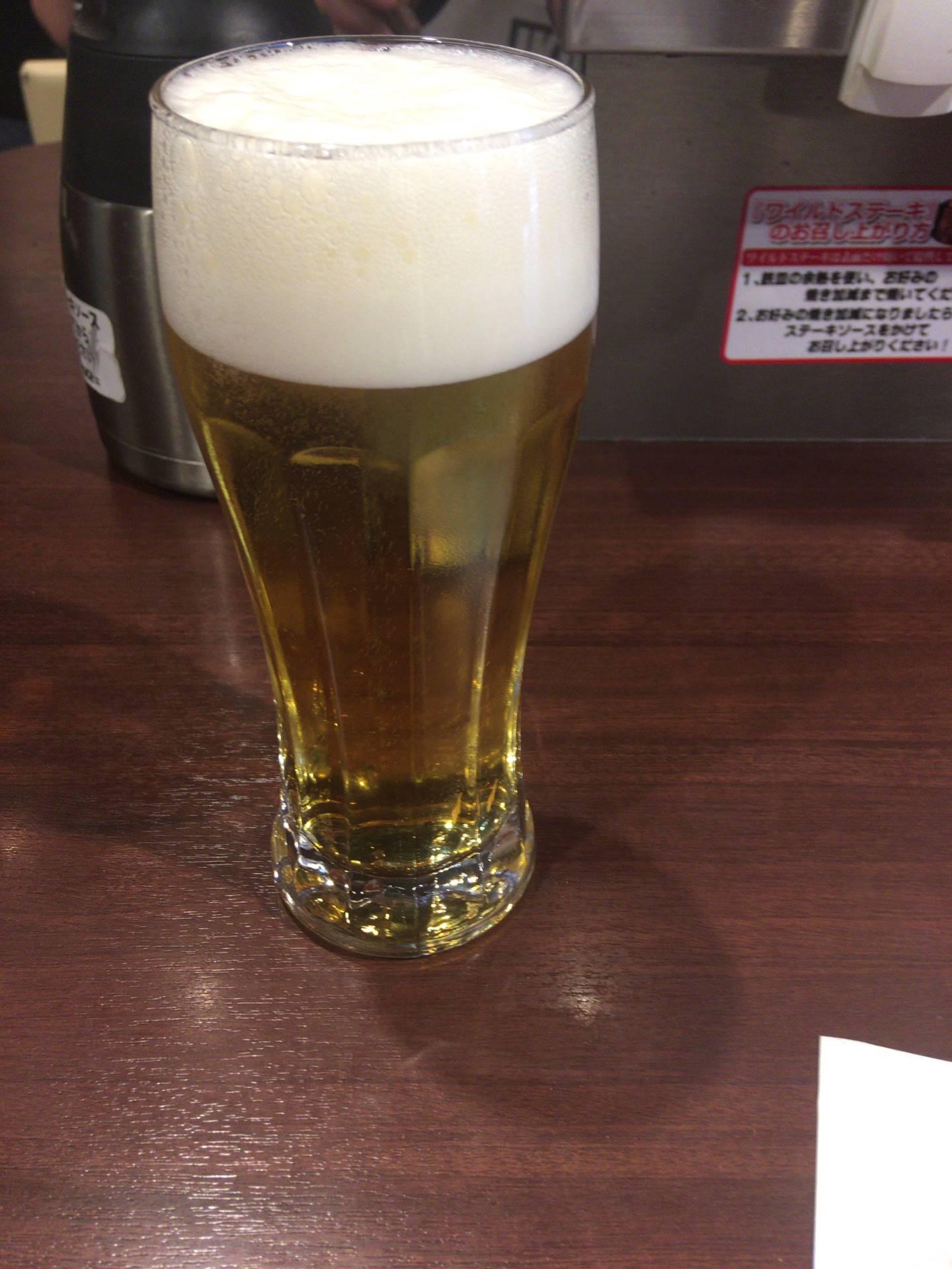 プラチナ肉マイレージで無料の生ビール