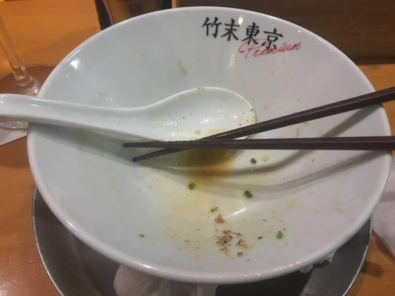 完食した丼