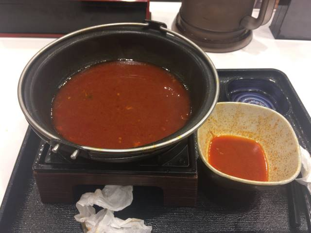 食べ終えた牛チゲ鍋膳 単品大盛り