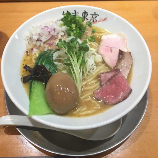 竹末東京プレミアムにて鶏ホタテそばと味玉 201811月29日(いい・にくの日)