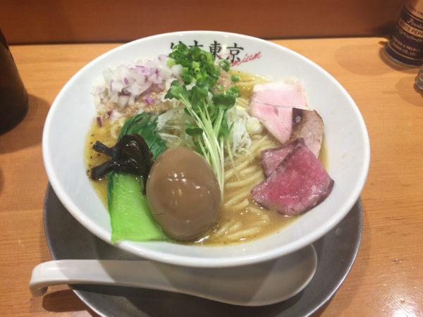 竹末東京プレミアムの味玉鶏ホタテそば