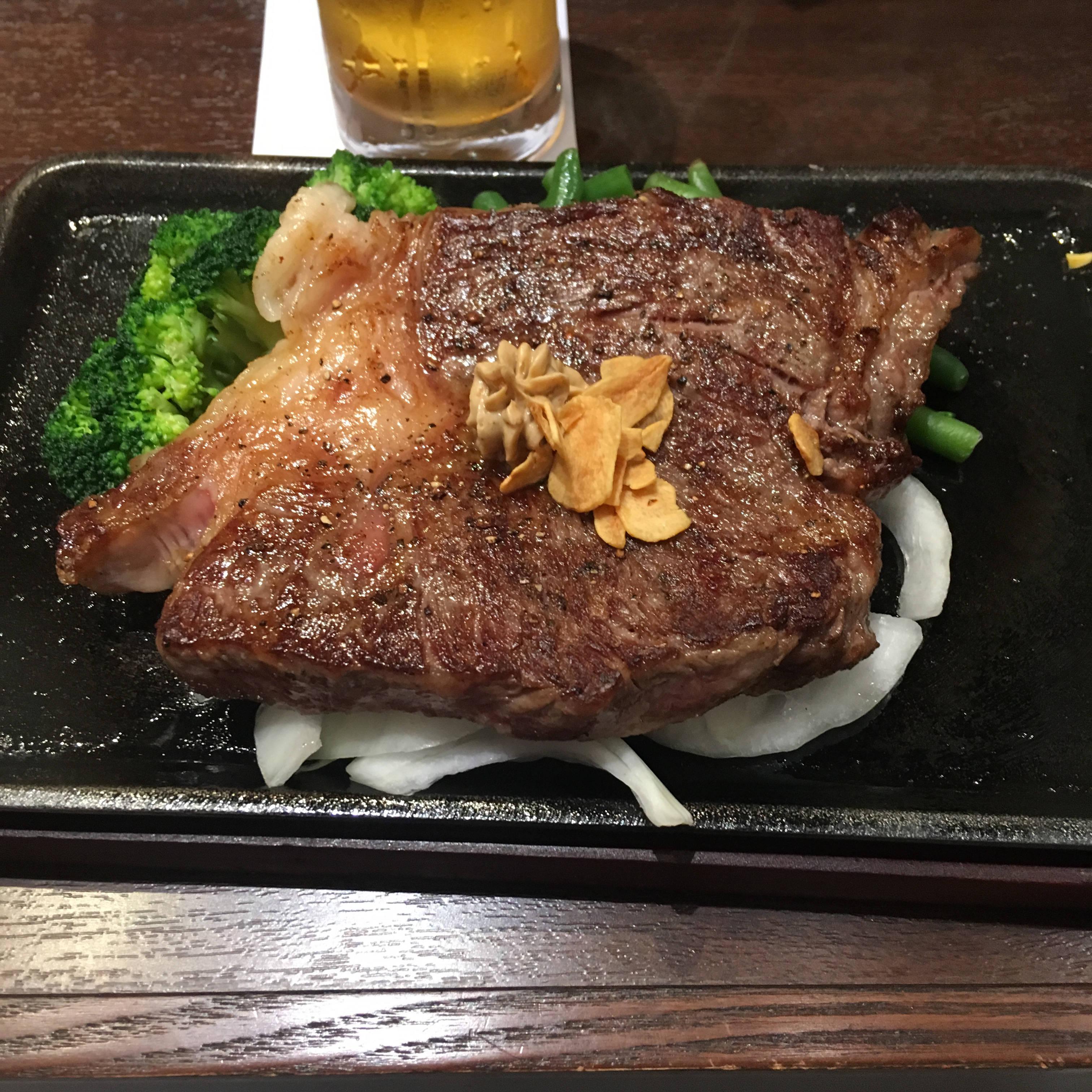 いきなり!ステーキの 黒毛和牛真芯サーロインステーキ