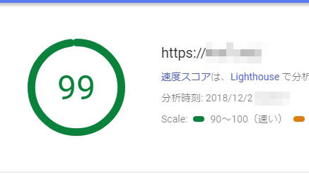 PageSpeed Insights計測結果ConoHa WING