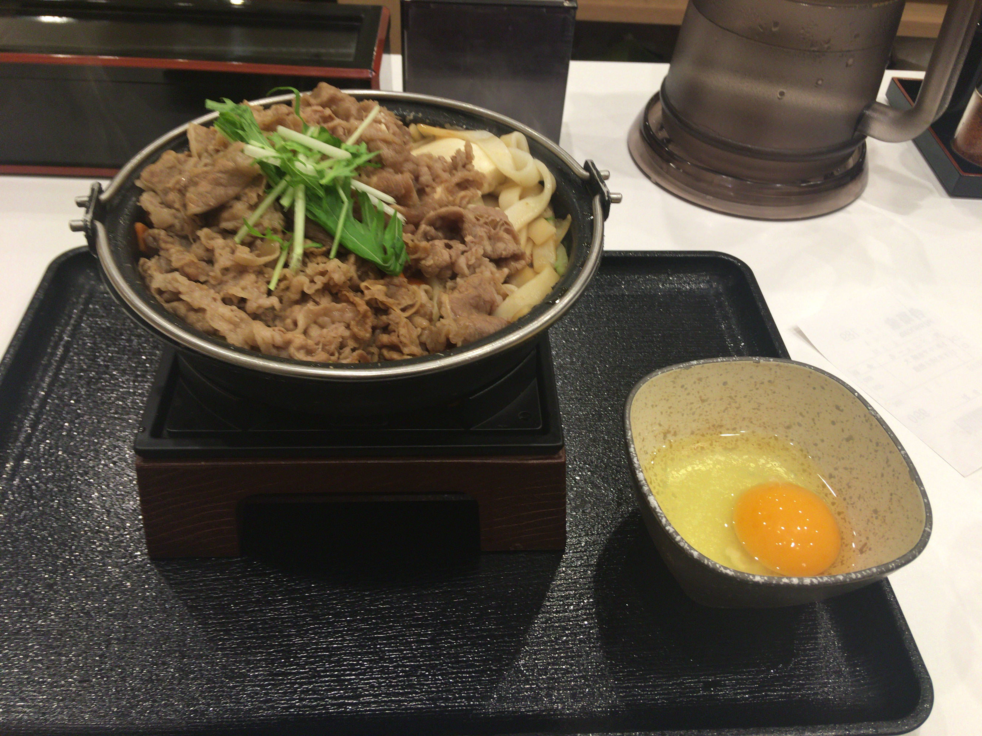 牛すき鍋膳単品 大盛り 肉二倍増し