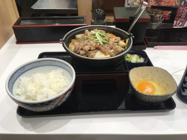 牛すき鍋膳 並盛セット
