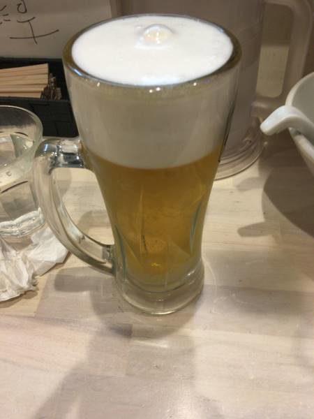 生ビールは500円
