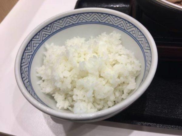 牛すき鍋膳 並盛のご飯