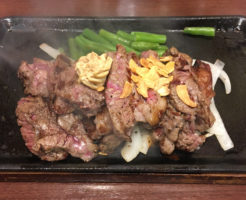 いきなり!ステーキで1月3日に食べた乱切りカットステーキ300g