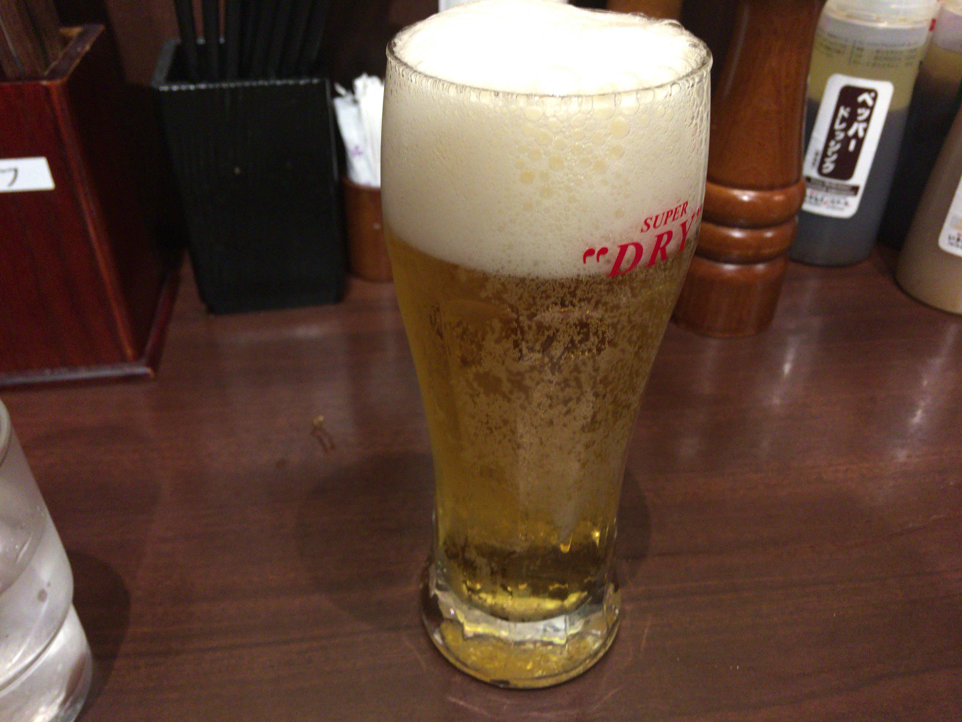 いきなり!ステーキの生ビール