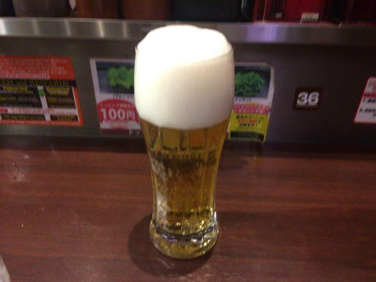 プラチナ肉マイレージで生ビール1杯無料