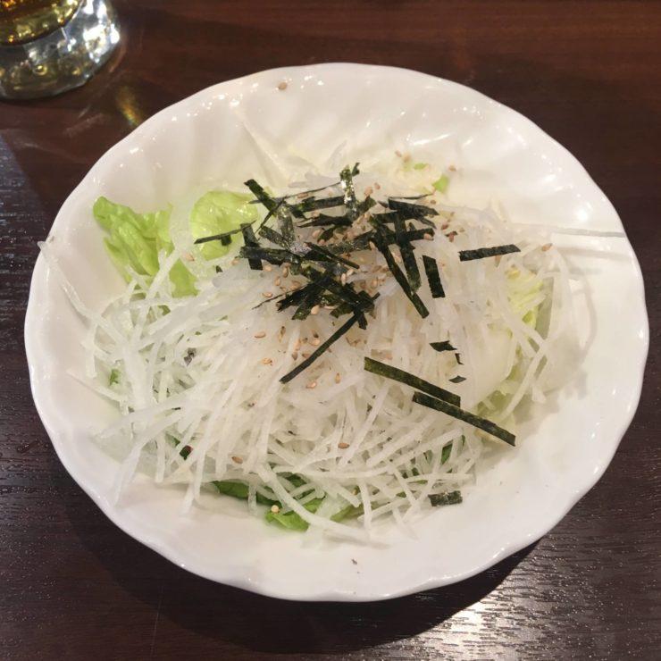 スモールサラダ(大根とレタスの和風)