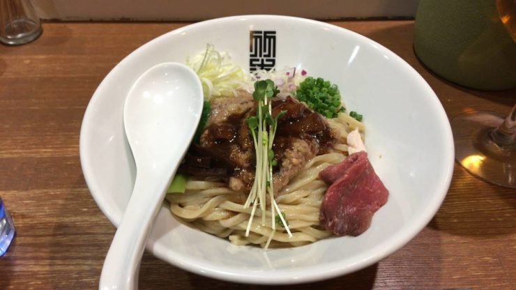 竹末東京Premium:サンマとイカのまぜそば900円
